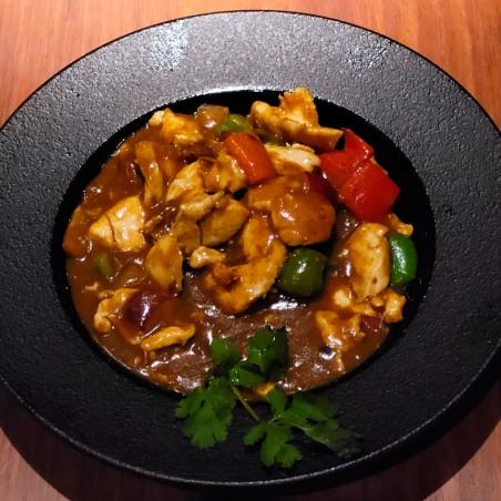 Karechikin - Pollo de corral con salsa al curry