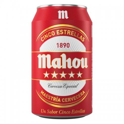 Cerveza Mahou 5 Estrellas (33 cl.)